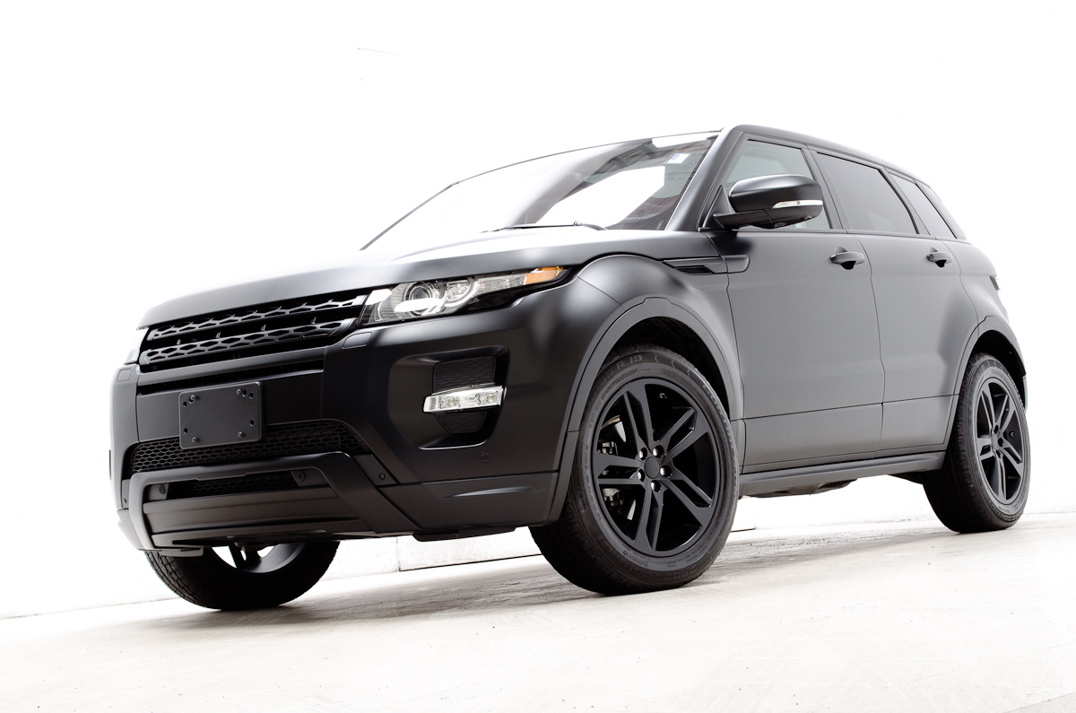 custom flat black 2012 range rover evoque dynamic. Black Bedroom Furniture Sets. Home Design Ideas