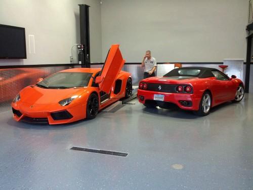 2012 Lamborghini Aventador and 2001 Ferrari 360 Spider